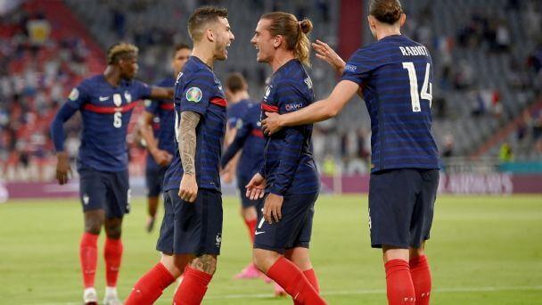 Francia celebrando un gol