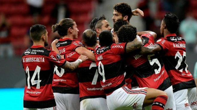 Flamengo celebrando